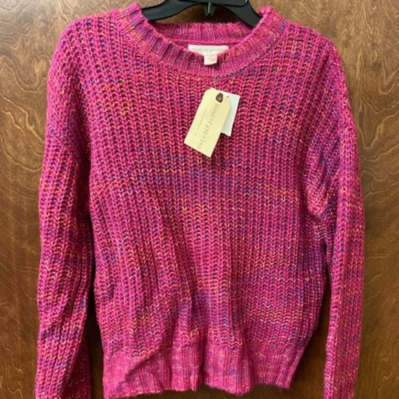Band Of Gypsies Pink Multi-Color Sweater